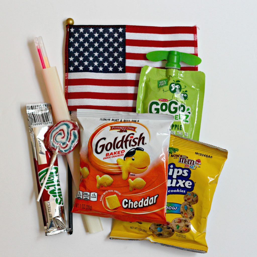4th of July Parade Bags contents