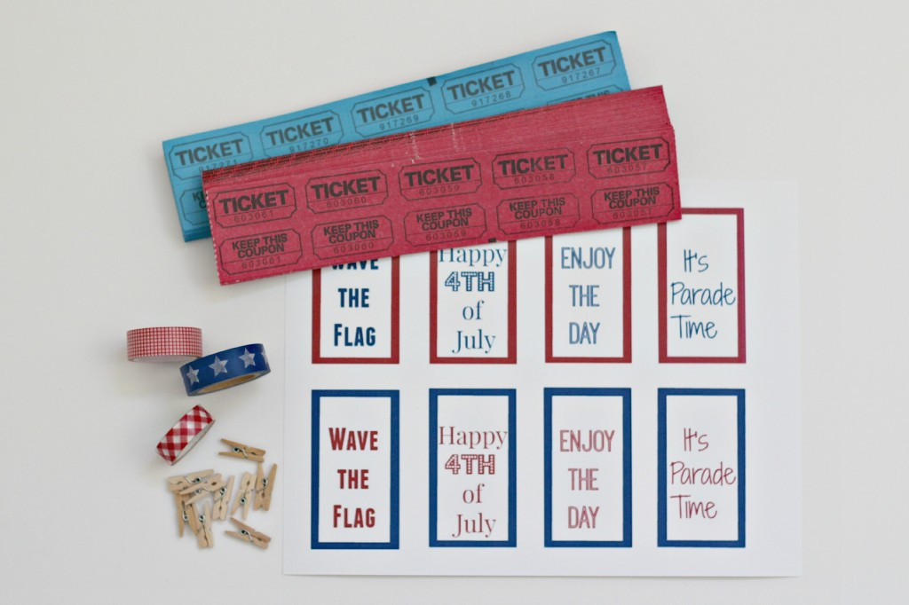 4th of July Parade Bags printable tags.1