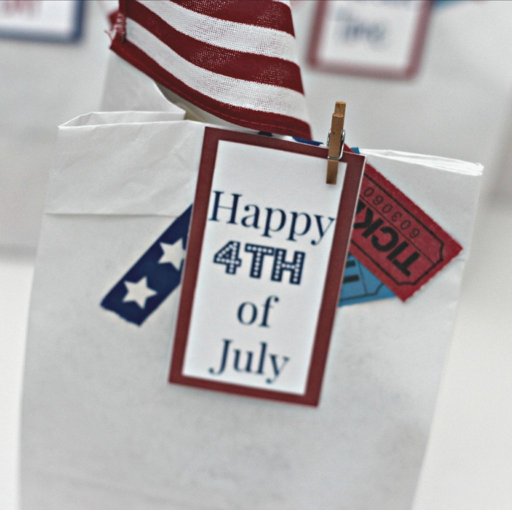 4th of July Parade Bags tickets and tags