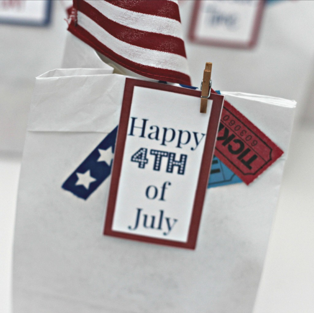 4th of July Parade Bags tickets and tags.1