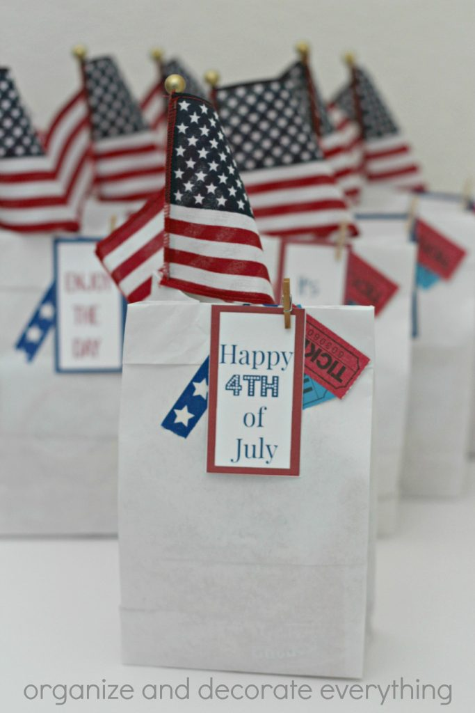 4th of July Parade Bags with tags
