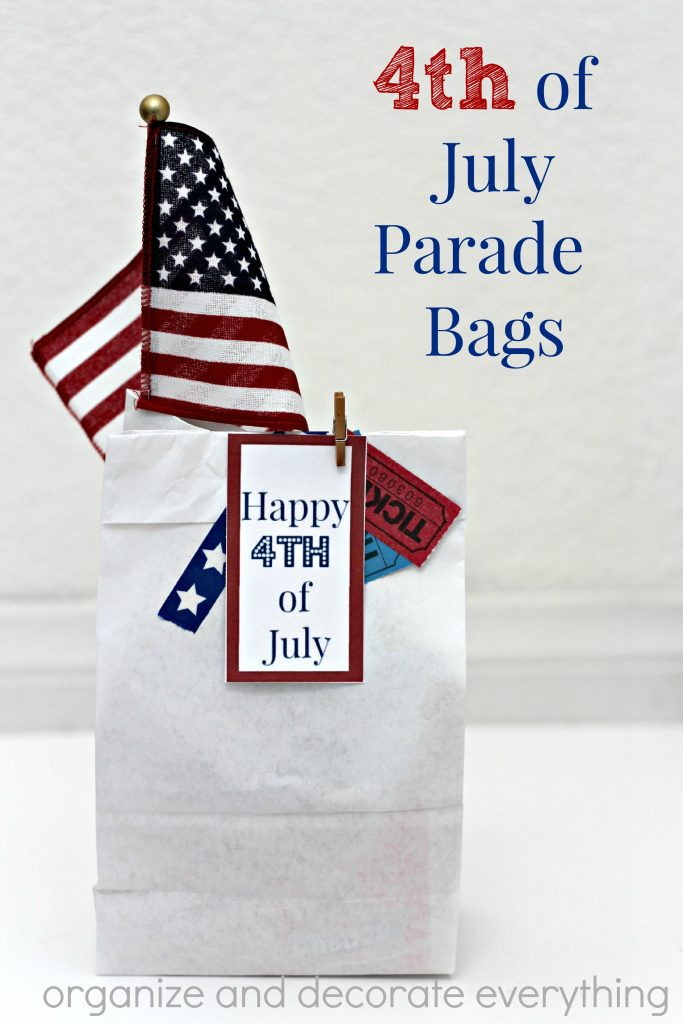 4th of July Parade Bags for the kids