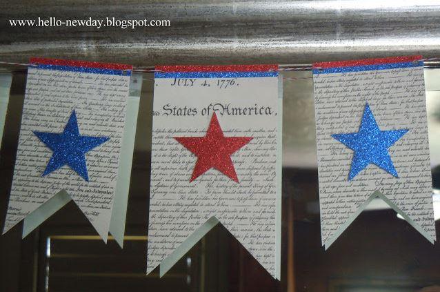 Declaration of Independence printable banner