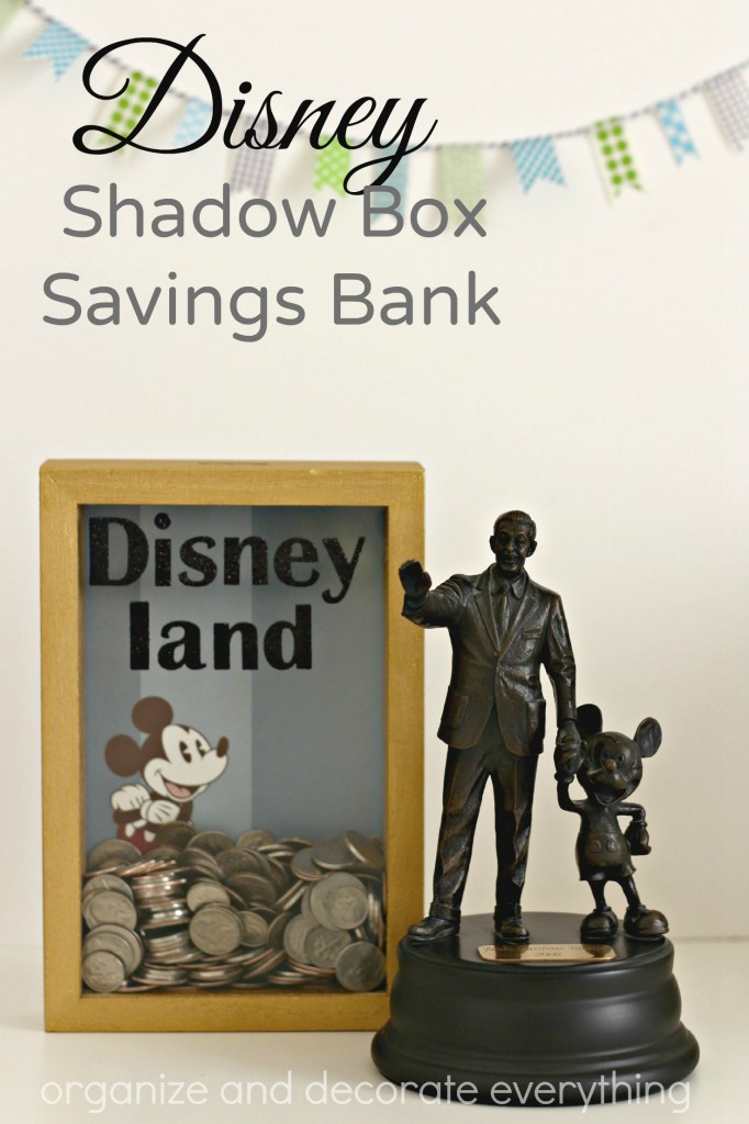 Disney Shadow Box Savings Bank