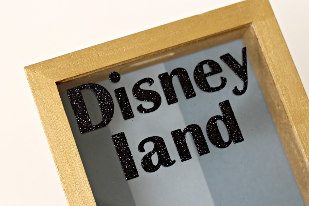 Disney Shadow Box Savings Bank glitter letters.1