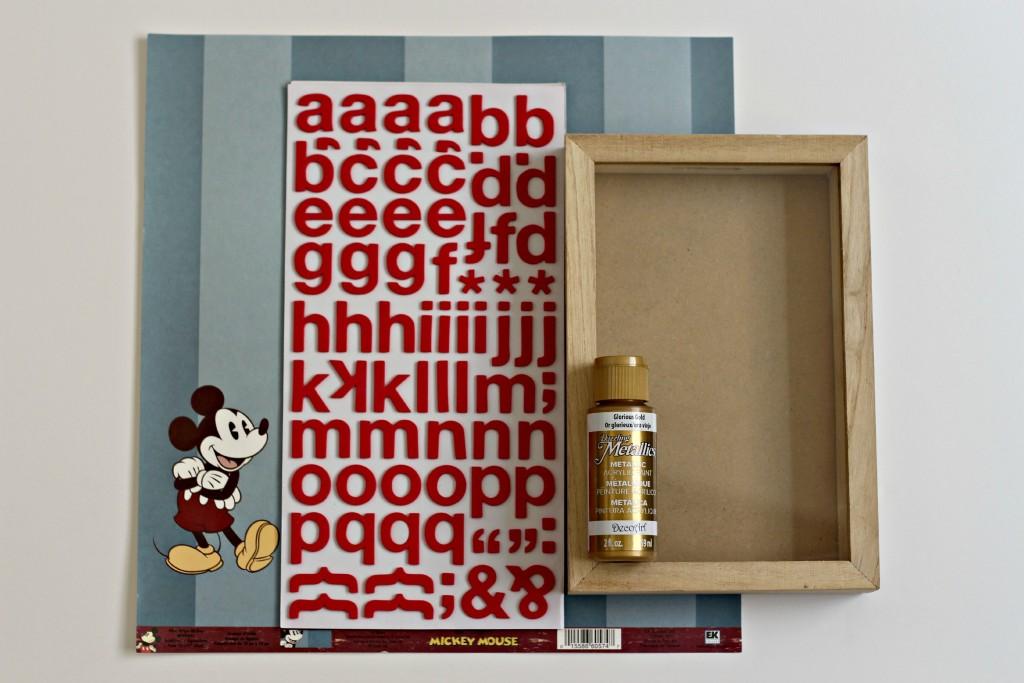 Disney Shadow Box Savings Bank supplies.1
