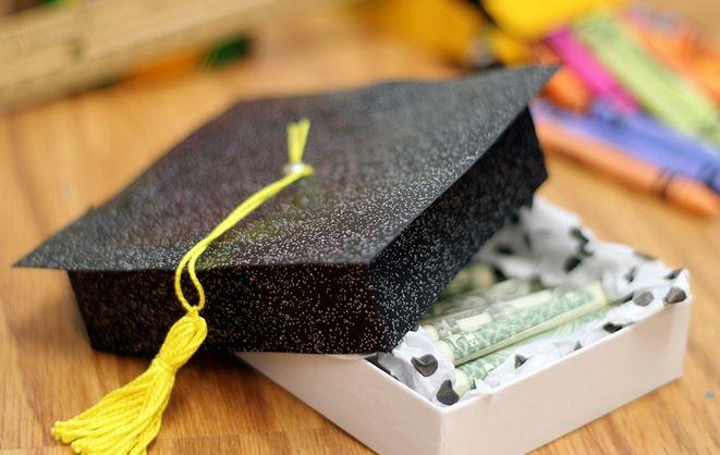 Graduation cap box