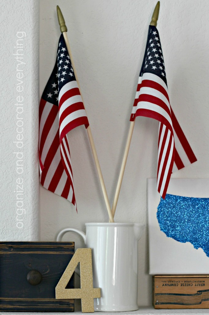 Patriotic Mantel flags