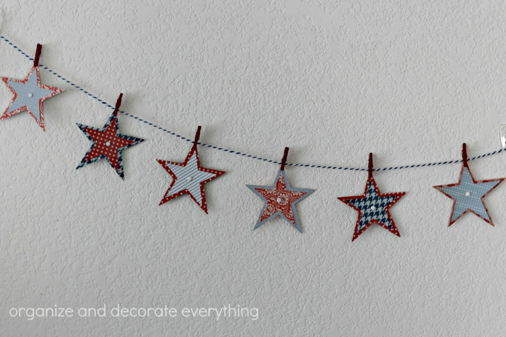 Patriotic Mantel star garland