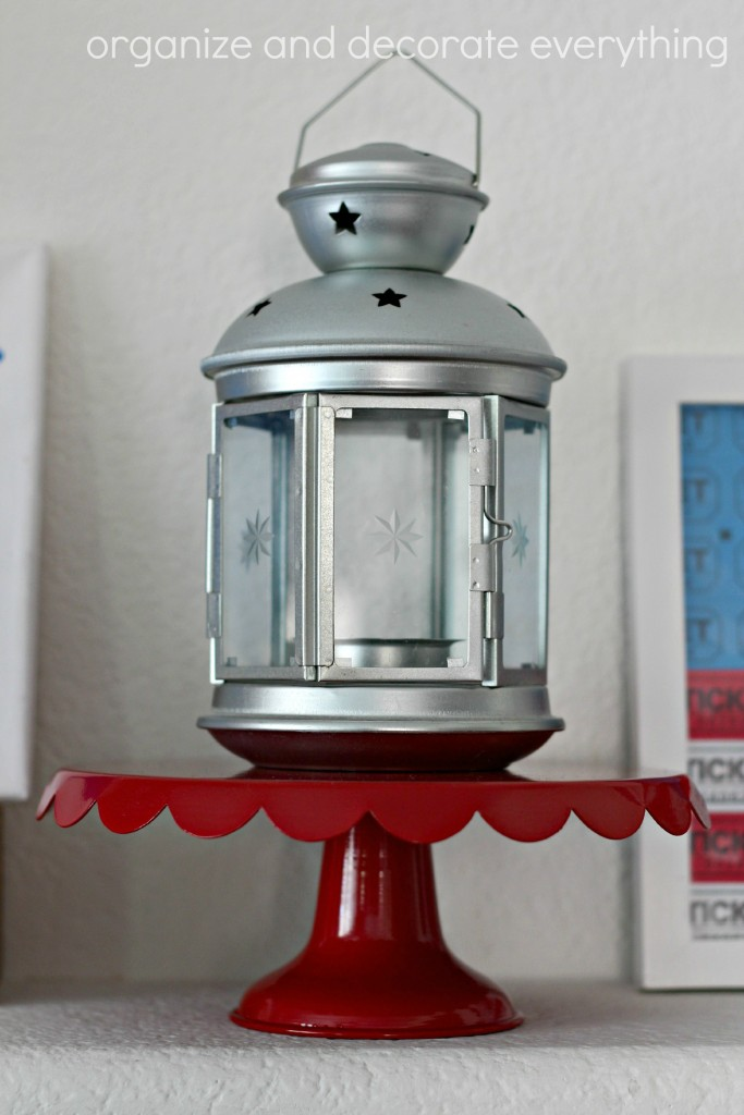Patriotic Mantel star lantern