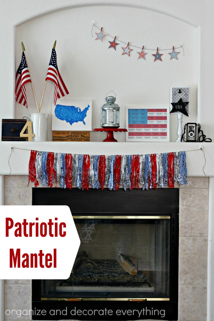 Patriotic Mantel with tutorials for many projects