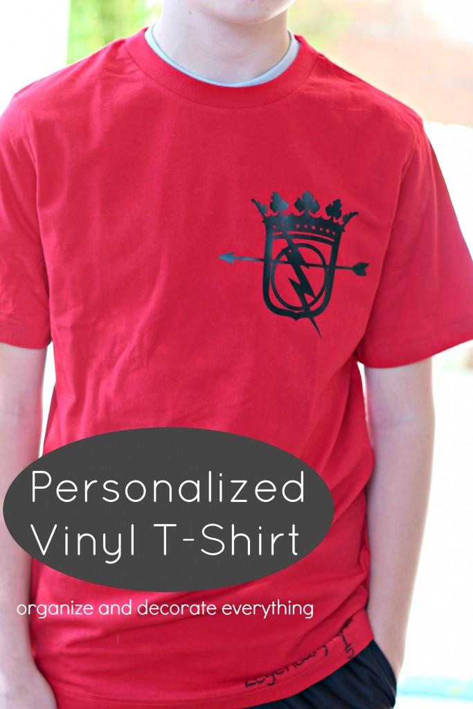 Personalized Vinyl T-Shirt