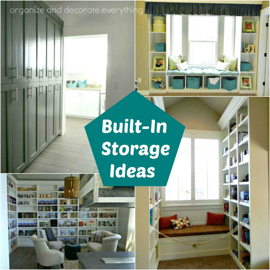 Living Room Built In Storage: Organize And Decorate Everything