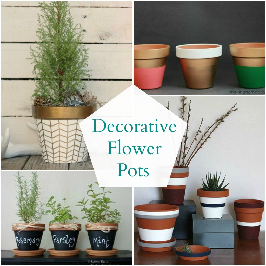 Decorative Flower Pots Organize And Decorate Everything