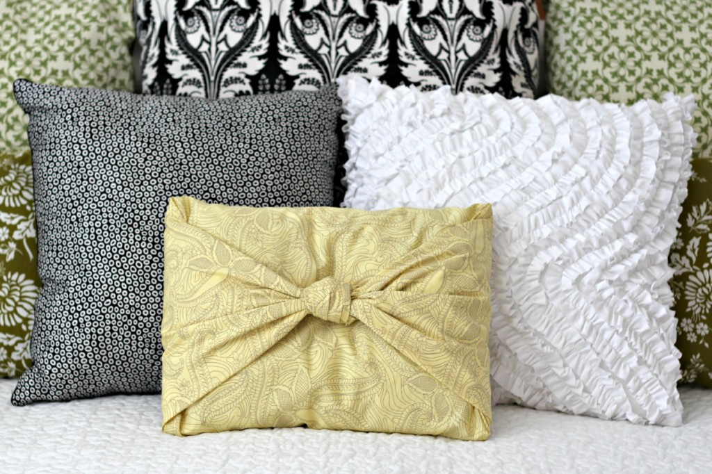 Easiest No Sew Pillow Cover bedroom.1