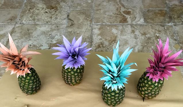 Fruit Decor Painted Pineapples
