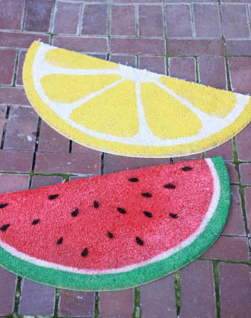 Fruit Decor Painted Rugs