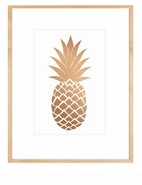 Fruit Decor Pineapple Print
