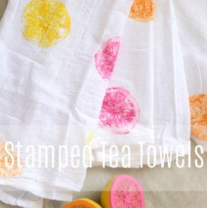 Fruit Decor Stamped Tea Towels