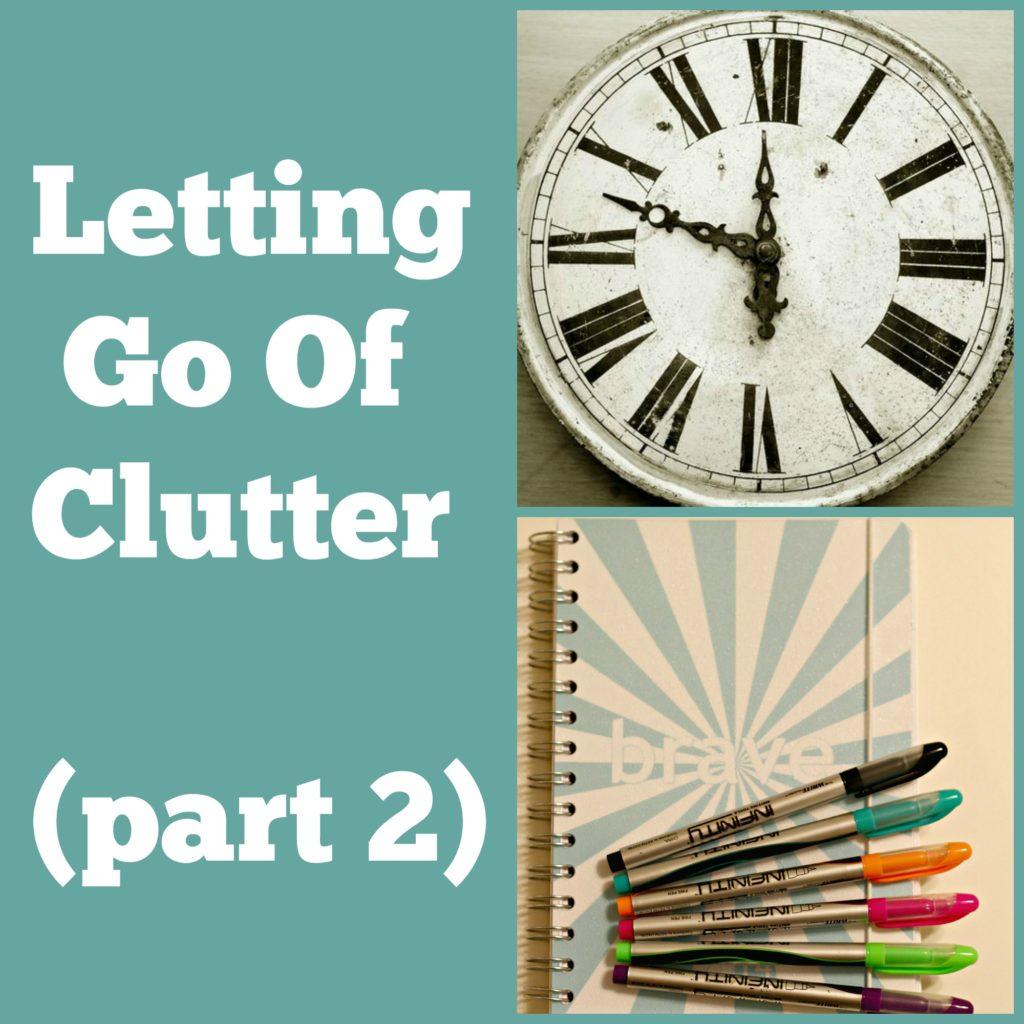 let go of clutter