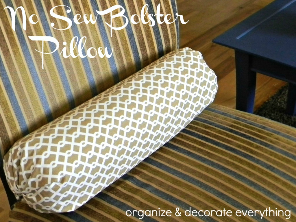 Easy no sew pillow cover organize and decorate everything Sew bolster pillow cover