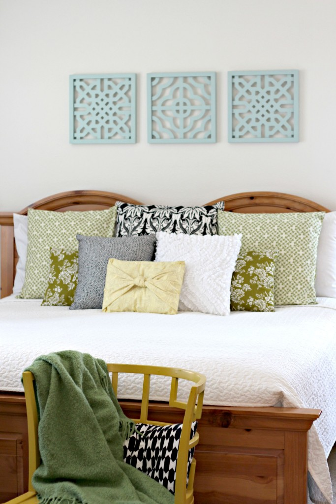 Spray painted wall art organize and decorate everything Master bedroom art above bed