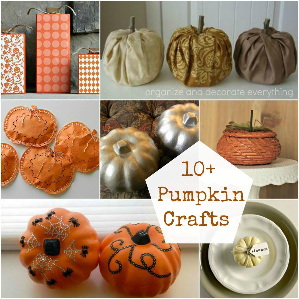 10+ Pumpkin Craft Ideas
