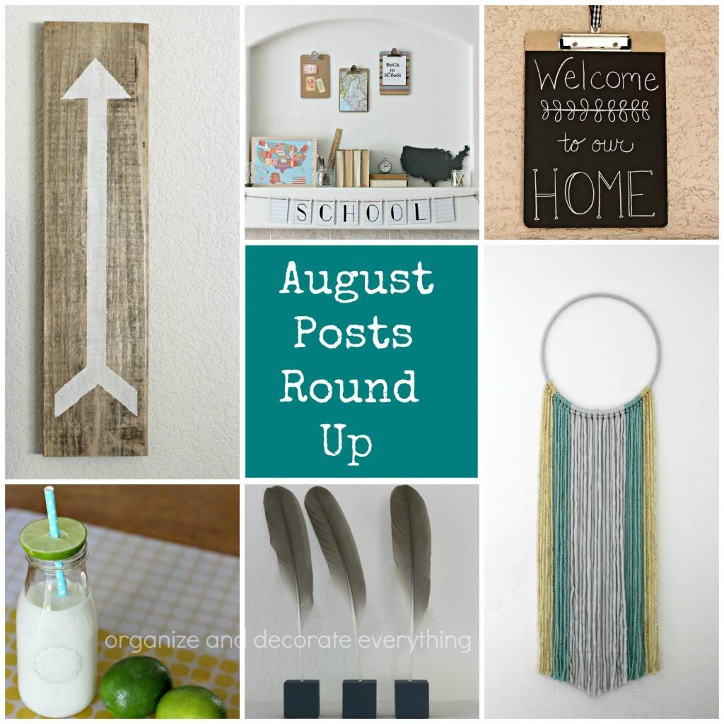 August Posts Round Up