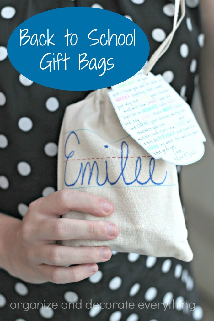 Back to School Gift Bags for Kids - Organize and Decorate Everything
