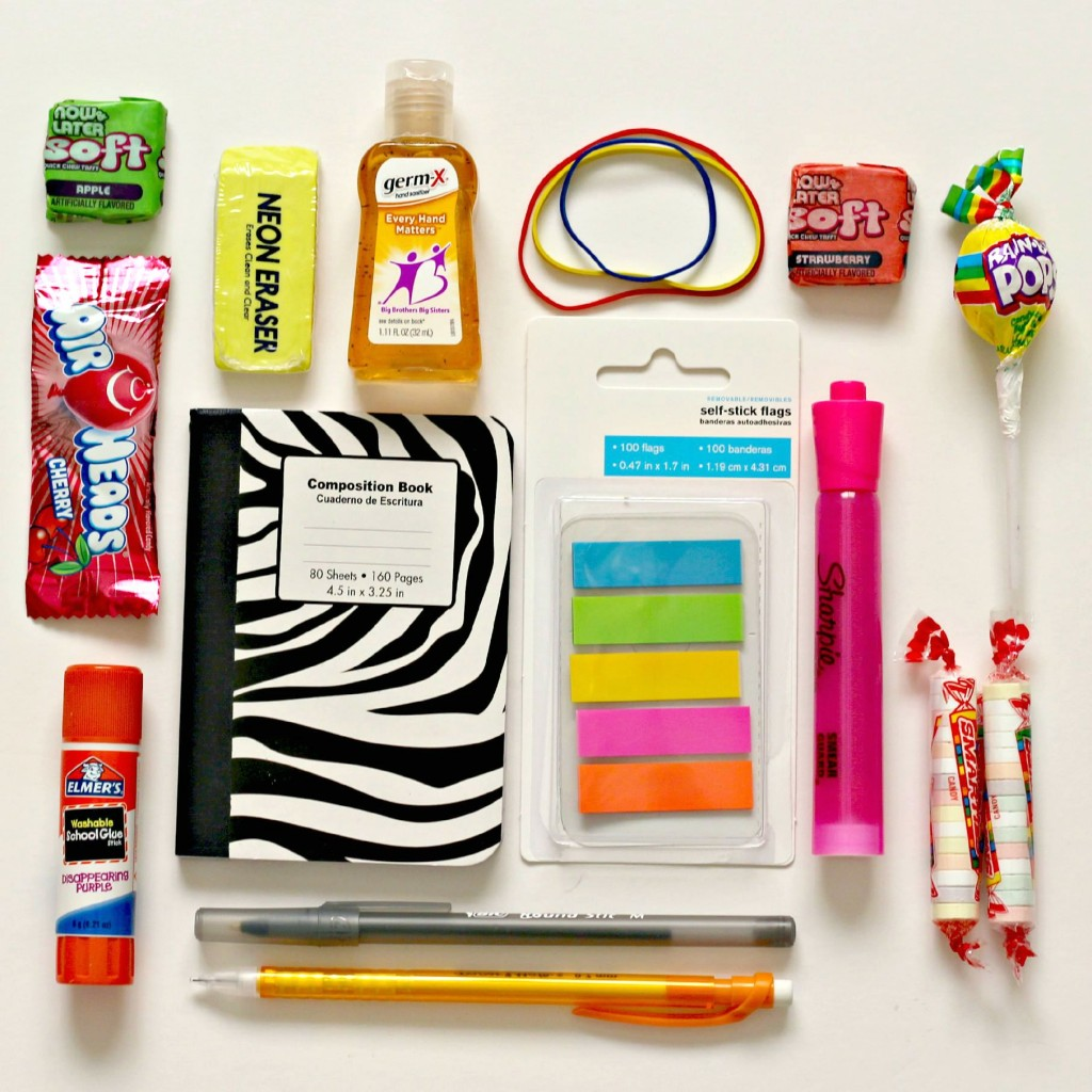 Back to School contents of gift bag.1