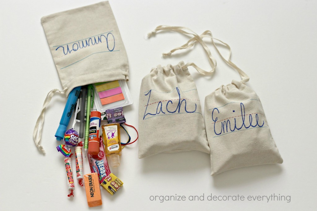 Back to School gift bag contents