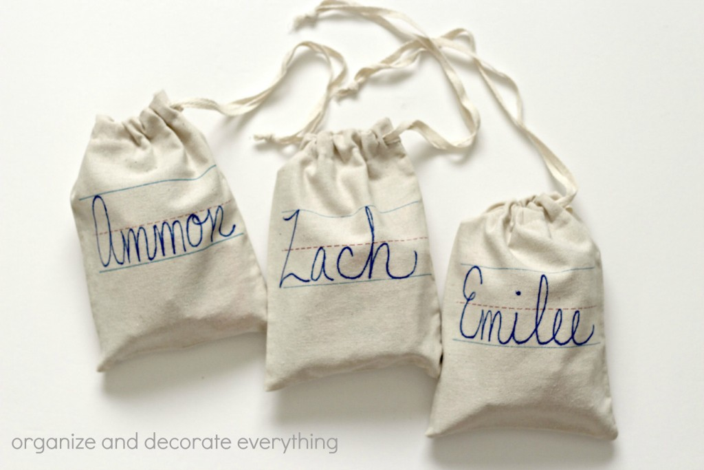 Back to School gift bags with name