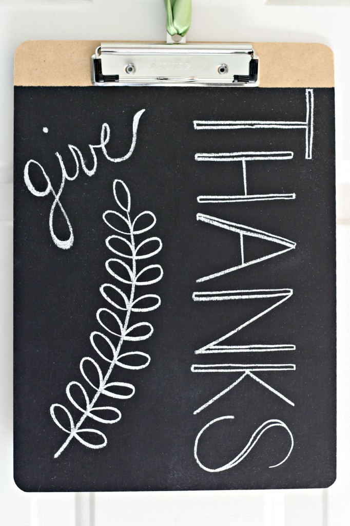 Chalkboard Clipboards Give Thanks