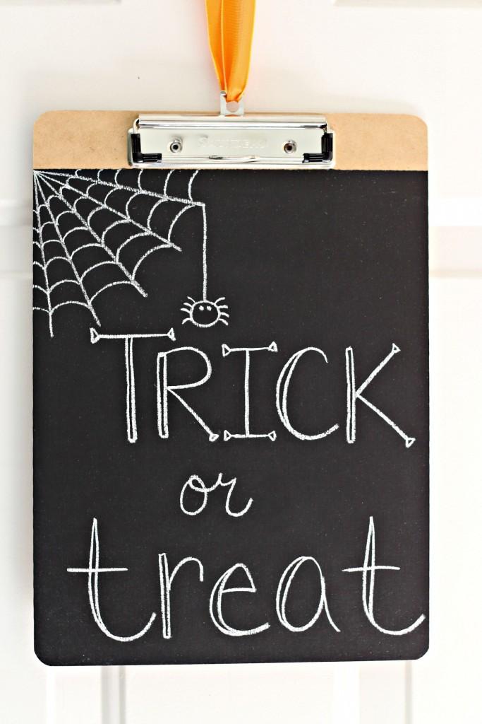 Chalkboard Clipboards Trick or Treat