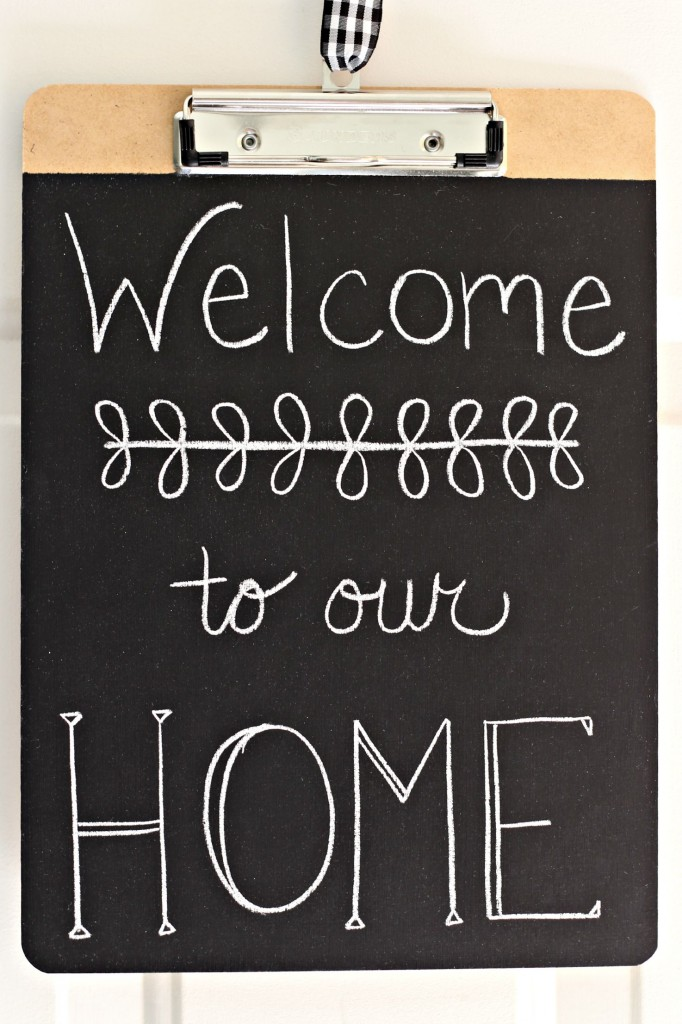 Chalkboard Clipboards Welcome to our Home
