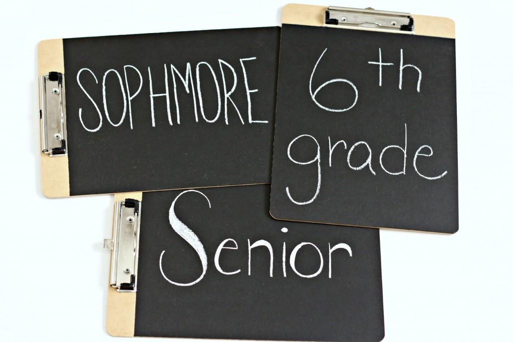 Chalkboard Clipboards for back to school.1