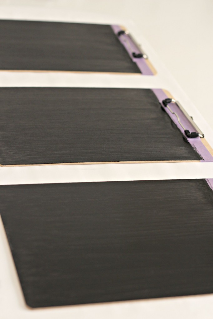 Chalkboard Clipboards painted