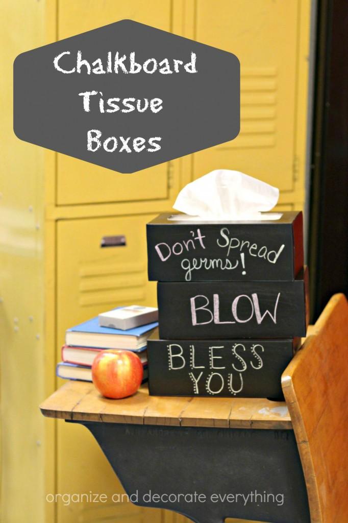 Chalkboard Tissue Boxes