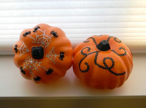 Crystal and Sequin Pumpkins