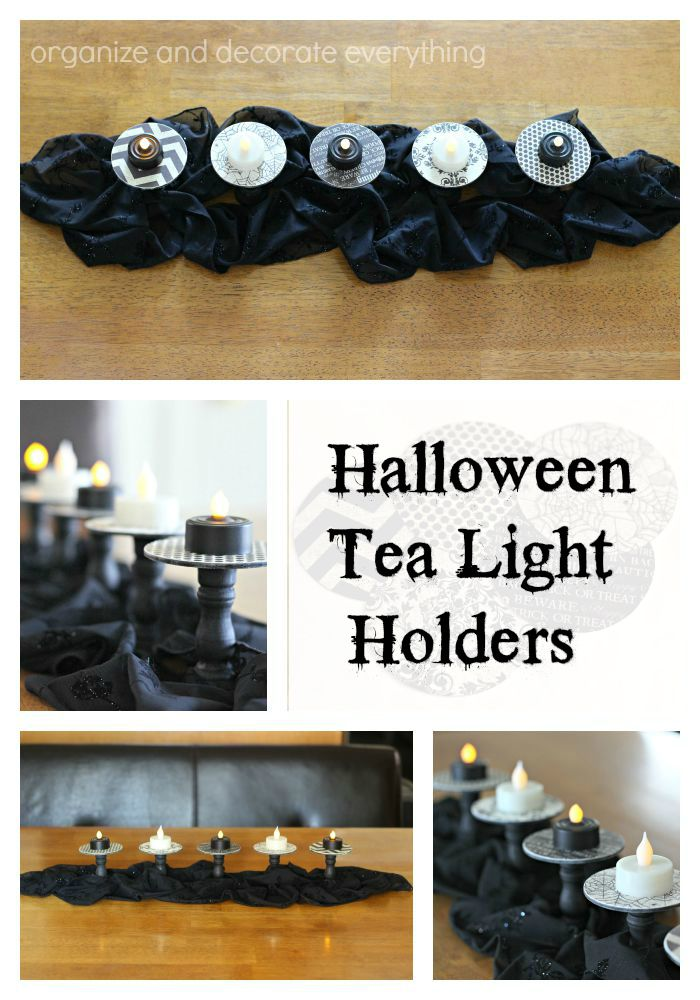 Halloween Black and White Tea Light Holders
