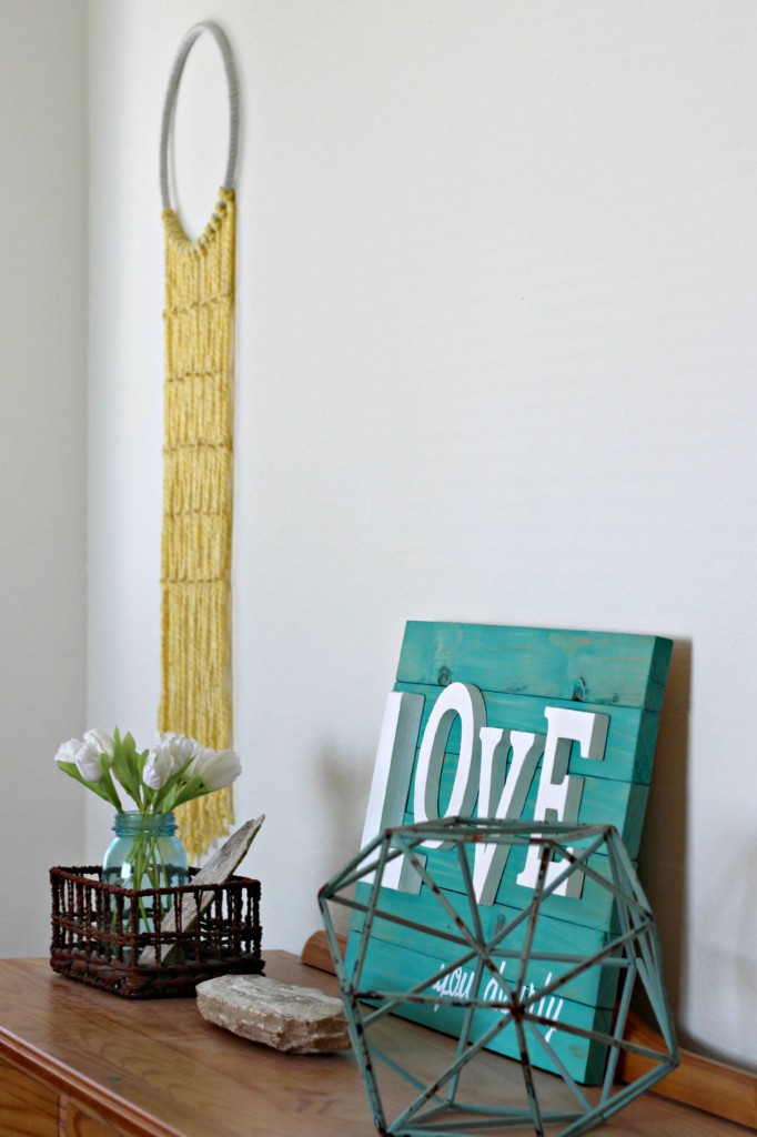 Macrame Wall Hanging and top of dresser.1