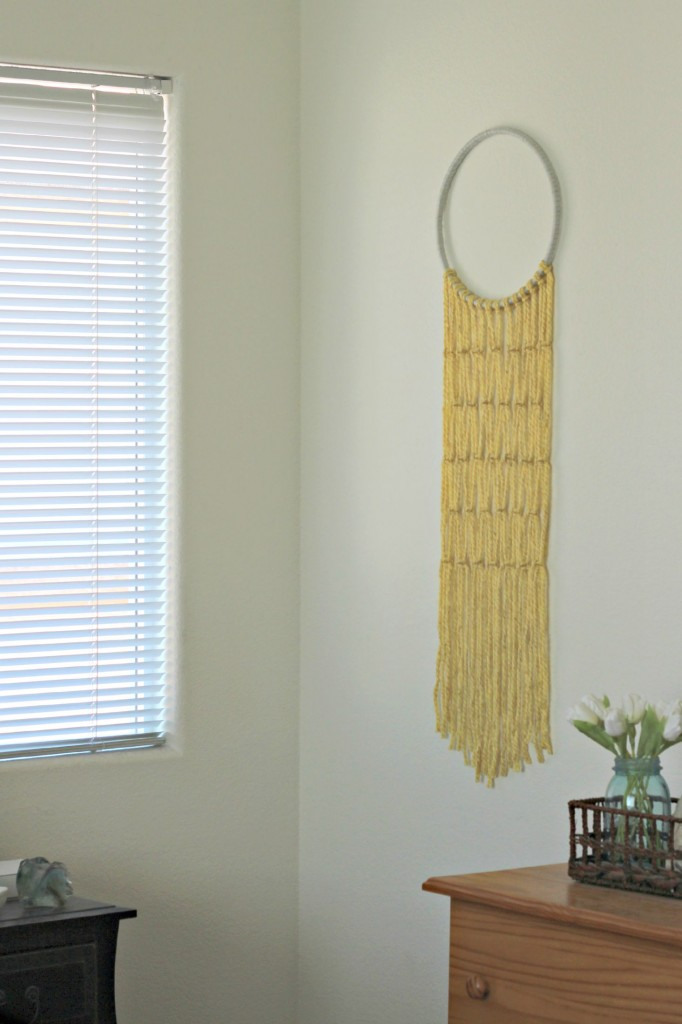Macrame Wall Hanging in corner.1