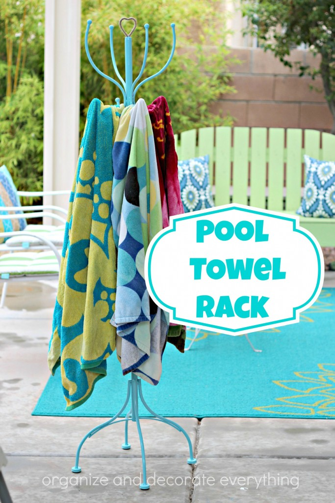 Pool Towel Rack