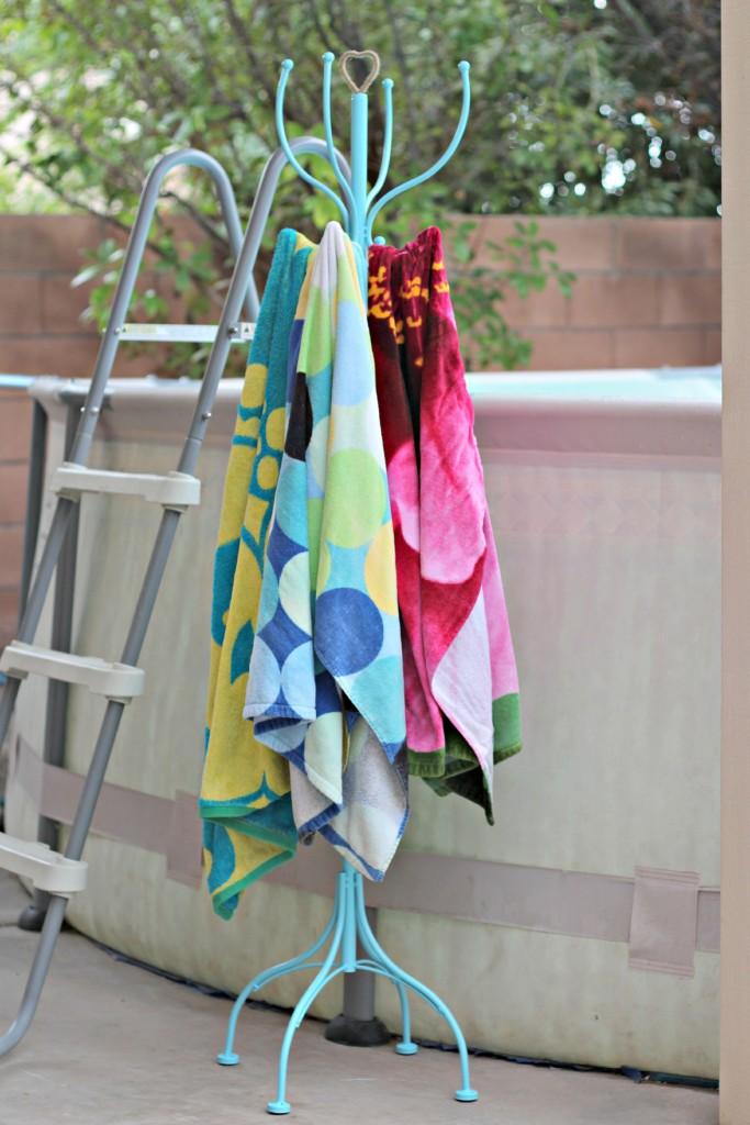 Pool Towel Rack by pool.1