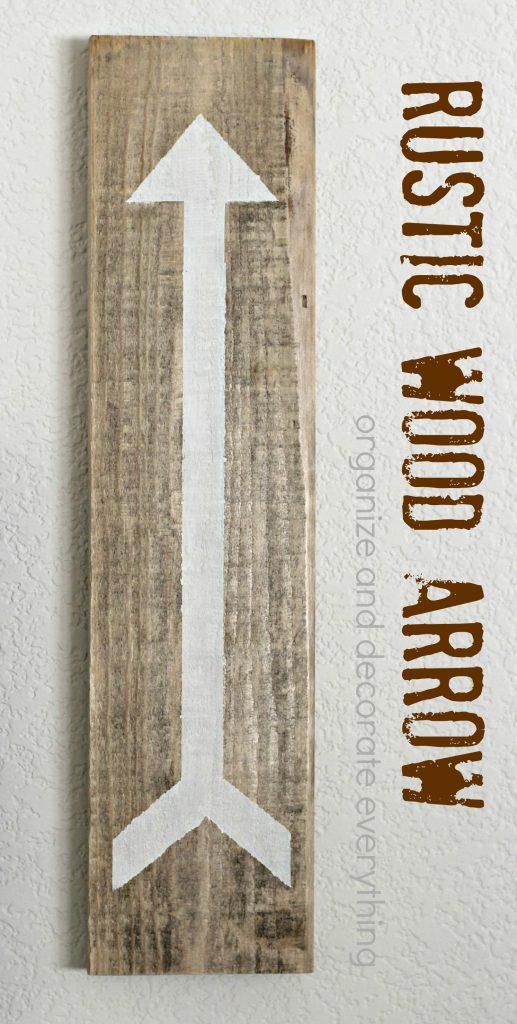Rustic Wood Arrow pinterest