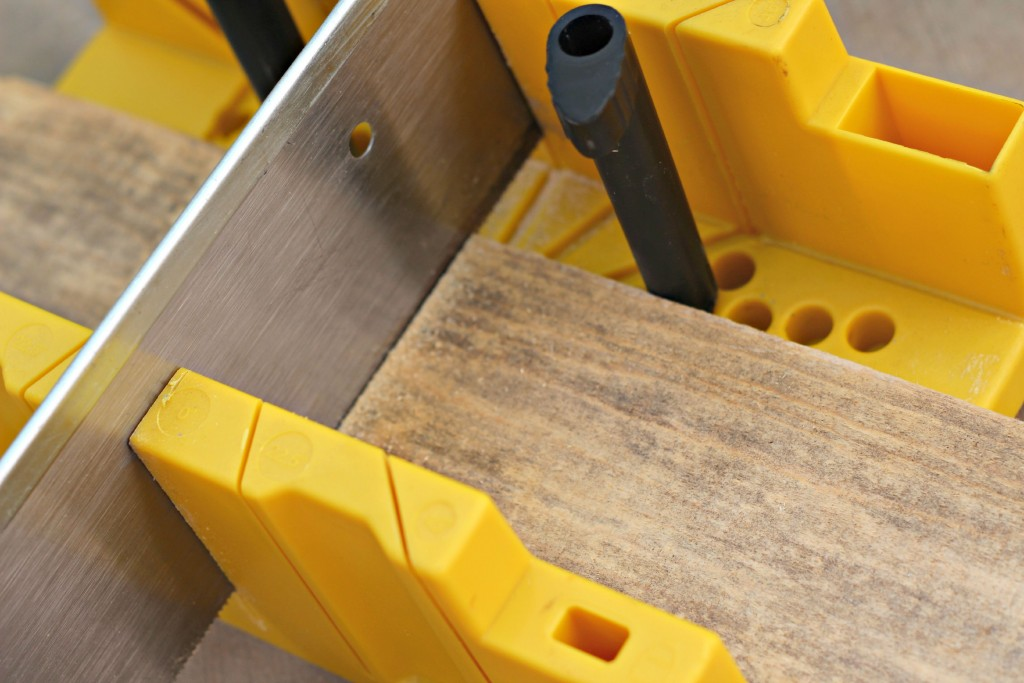 Rustic Wood Arrow miter saw.1