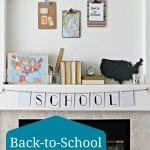 Vintage Look School Mantel