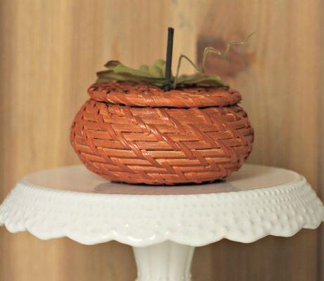 Wicker Basket Pumpkin
