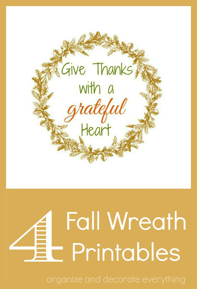 4 Fall Wreath Printables