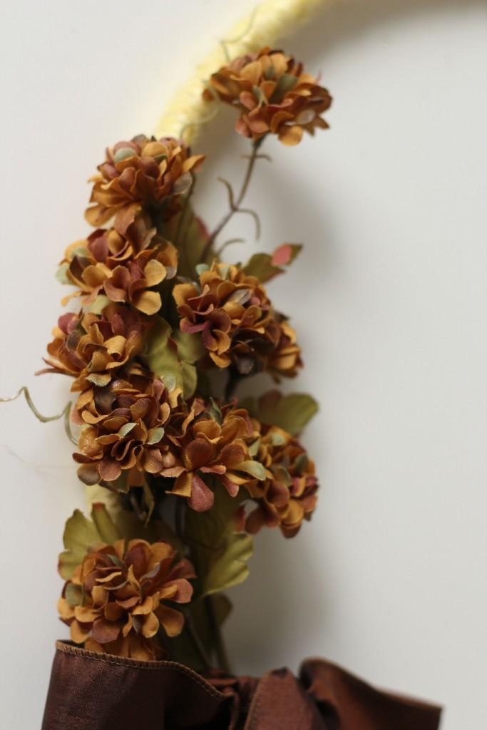 Fall Hoop Wreath flowers
